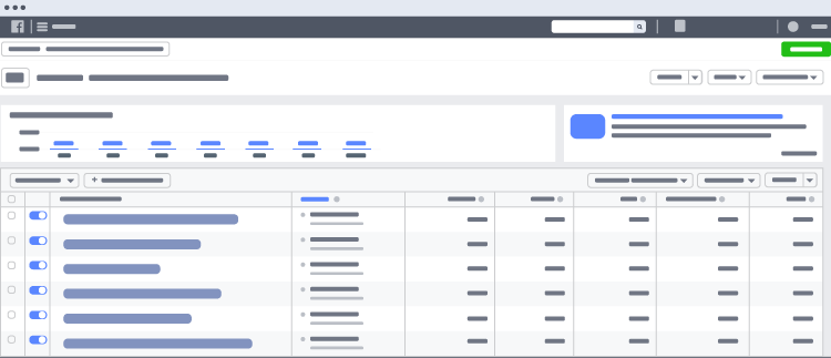 Facebook Ads Manager Example