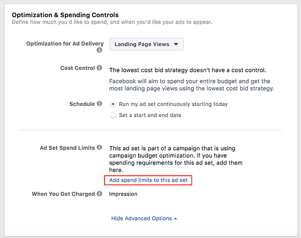 Facebook Optimization and Spending