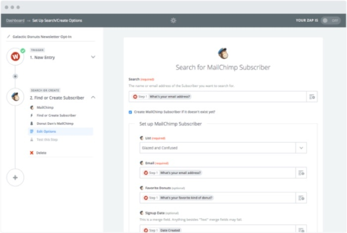 Zapier has Worfkflows to automate your marketing and business tasks