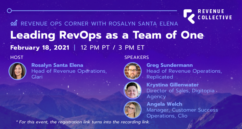 Leading RevOps as a Team of One Event Banner