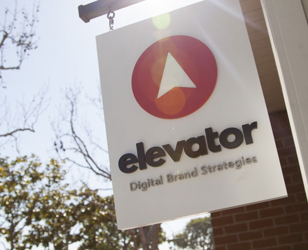 Elevator Agency Sign with Logo