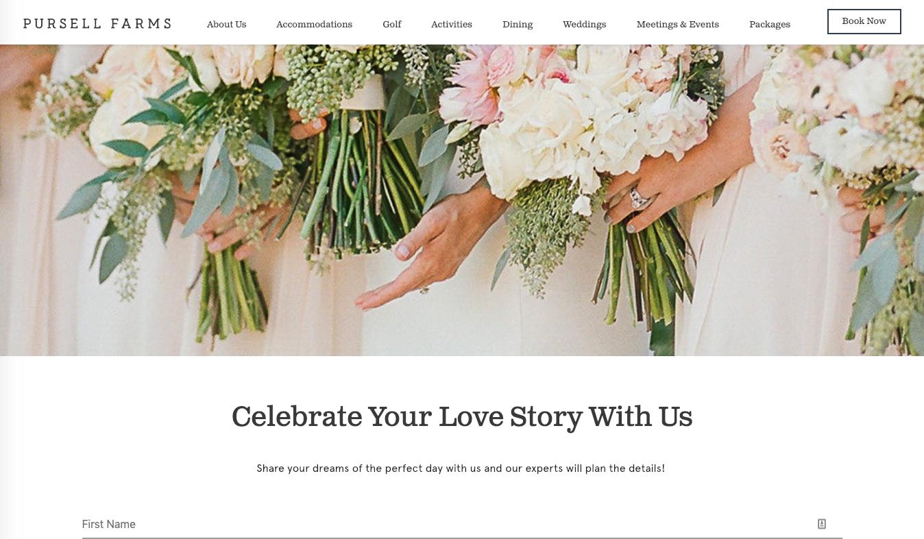 Pursell Farms Wedding Leads   Digitopia