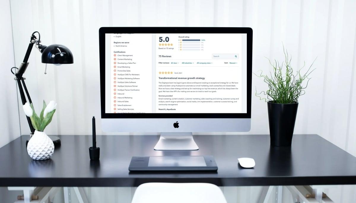 Digitopia HubSpot Directory Reviews