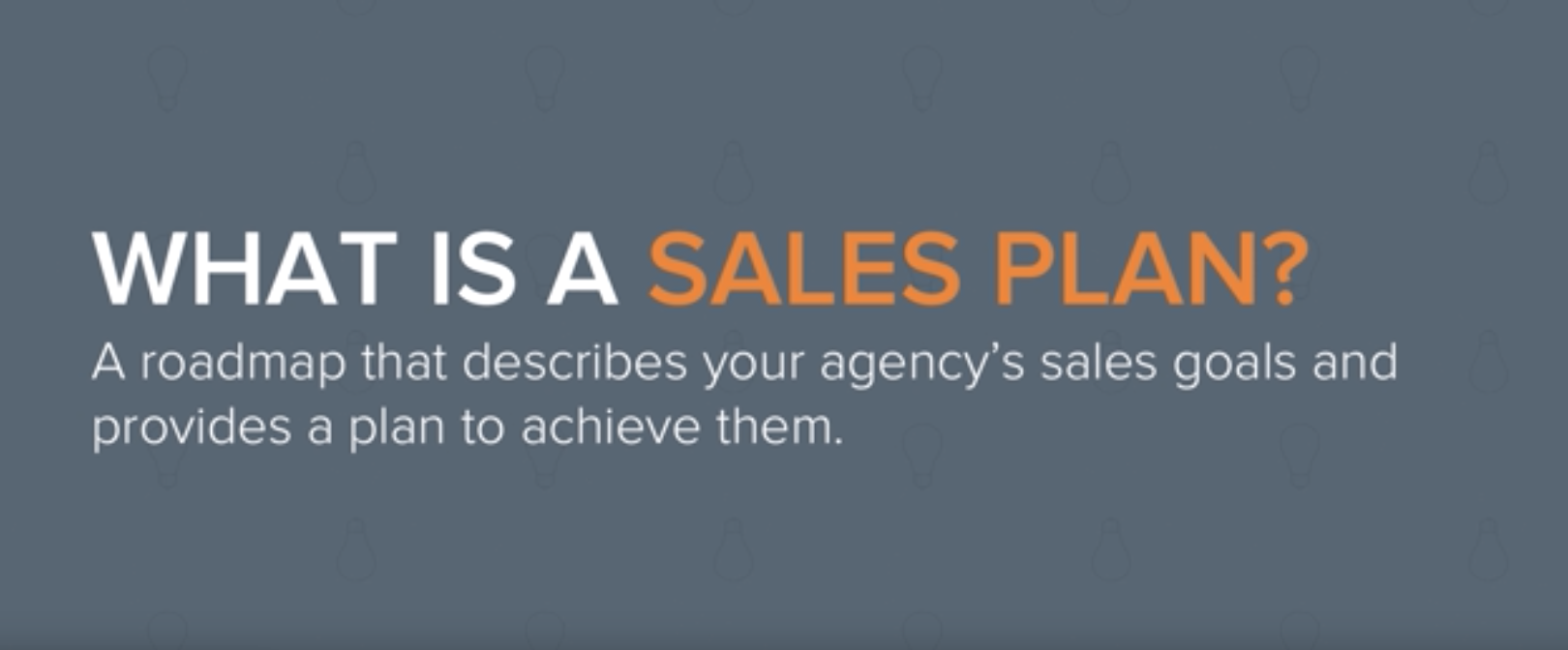 What is a sales plan
